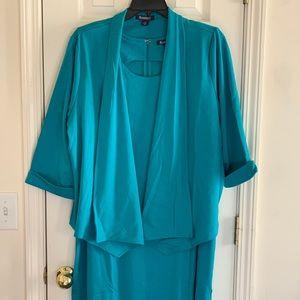 2 piece Turquoise Dress Suit